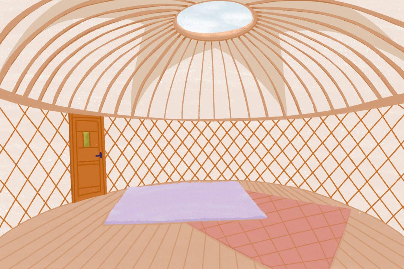 background yurt