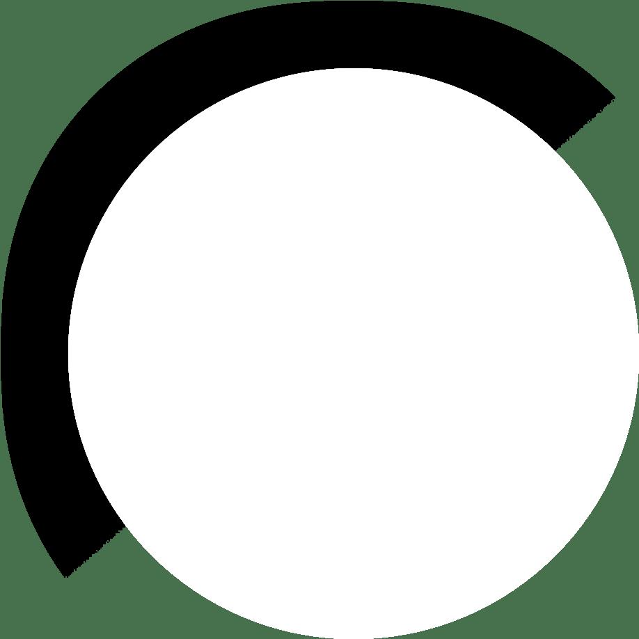 cirkel wit logo